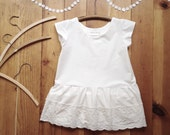 Peplum top with embroidered ruffle white - girls clothes - girls size 14 16 tween junior youth