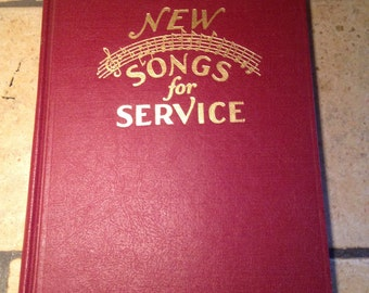 1929 New Songs For Service Hymn Book