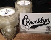 Leather Scented Soy Candle in Skull Shot Glass