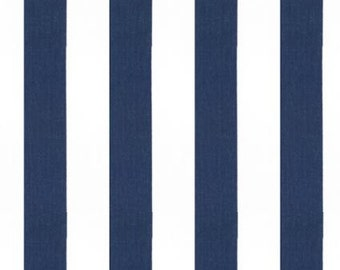 Navy and White Curtain Panel