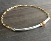 layering bracelet - gold and silver // dainty, minimalist, simple