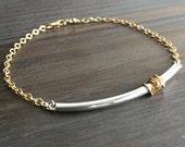 bracelet de superposition - gold et silver / / dainty, minimaliste, simple