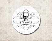 Halloween Goth Wedding Stickers Skull Til Death Do Us Part Party Favor Treat Bag Stickers Envelope Seals  SH007