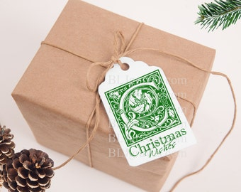 Christmas Tags Christmas Wishes Gift Tags Party Favor Vintage Style Treat Bag Tags TC001