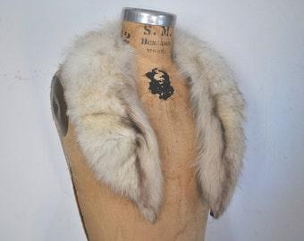 Genuine Fox Fur Collar / bridal wedding