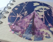 Small Magic Tent printed and hand embroidered sketchbook/journal