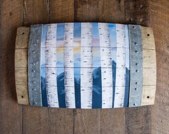 Aspen Sky Barrel Stave Art