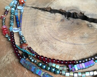 SALE!!  Multi strand statement necklace reg 50.00 sale 40.00