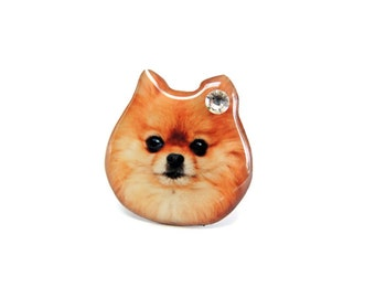 Brown Pomeranian Dog Ring - A0010-R D05 Made to Order