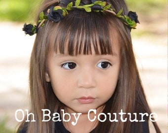 Girls Boho Flower crown headband 6 colors
