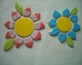 BR - BRIGHT  FLOWERS, Leaves Set  - Ceramic Mosaic Tiles