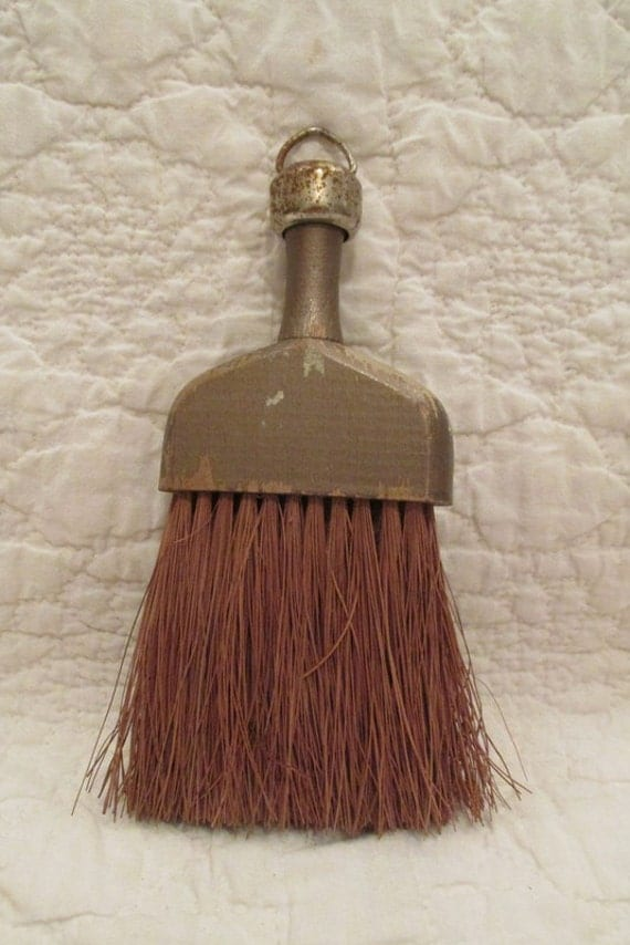 Vintage Whisk Broom Wood And Straw