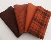 RESERVED Listing for Susan, Six pieces of Copper on Glen Plaid wool