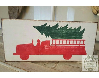 A Firefighter Christmas sign