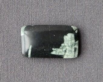 Chinese Writing Stone Cabochon - Black and White Stone