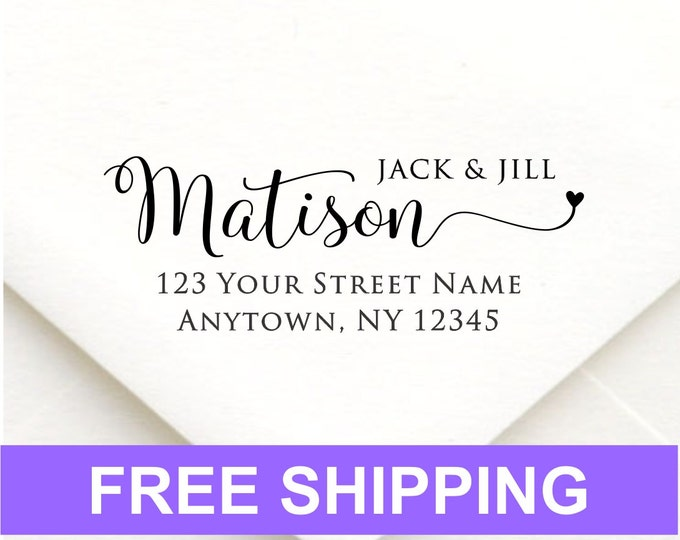 Address stamp self inking - return address stamp - Wedding Gift, Bridal Shower Gift, Realtor Gift, Housewarming Gift, Christmas gift R351