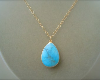 Perfect Pendant -- Turquoise Focal Pendant Necklace