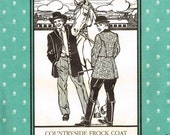 Countryside Frock Coat Mens Womans Folkwear 263  Sewing Pattern Steampunk Victorian Historical Dickens Size S M L XL XXL Small Medium Large