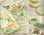 Casserole Carrier Tote, Bowl Cover Gifting Basket Simplicity 1236 Kitchen Helpers Sewing Pattern