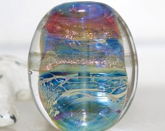 Ethereal andmade Lampwork Glass Focal Bead