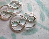 Sale.. 1 5 10 pcs, DOUBLE INFINITY Charm Pendant Link Connector, Vermeil or Sterling Silver, 20x11 mm, Small, love bridesmaids n31s solo