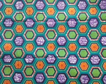 African wax print. Hexagons Six yards of African print. Wax print fabric. African wax fabric. Whole bolt