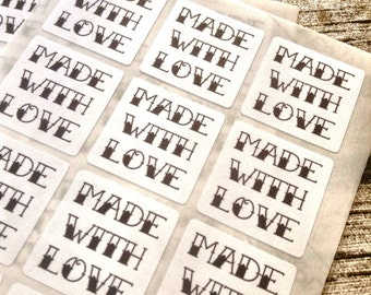 96 Made with love tattoo style stickers. Made with love seals. Made with love Envelope seals. Made sticker. Thanks envelope seal. Handmade