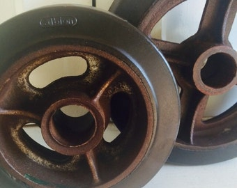 Vintage Industrial Salvage Factory Wheels
