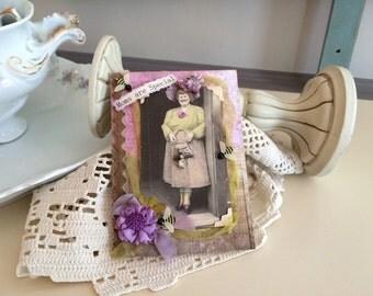 British Mom Card - Victorian Mom Card - Old-fashioned Mom Card
