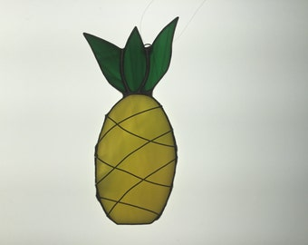 SALE Pineapple Suncatcher in Stained Glass