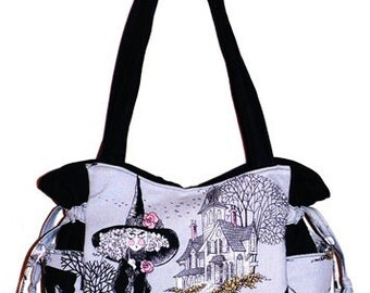 Ghastlies Ghastly Witches - Handbag, Purse, Tote, Shoulder Bag, Outside Pockets