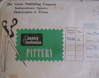 Vintage mail order pattern, Country Gentleman mail order pattern, vintage childs dress pattern