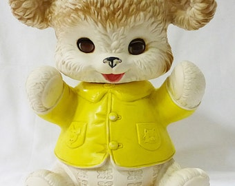 Vintage bear squeak toy by edward mobley mfg by arrow rubber 1962