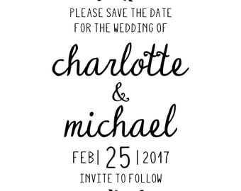 Charlotte Save the Date stamp