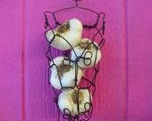 Handmade Wire Wall Hanging Garlic Basket