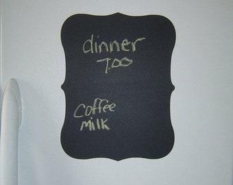 On SALE- Large Vinyl Chalkboard Decal, Chalkboard Sticker, Chalkboard Menu, Wedding Chalkboard, Water Resistant