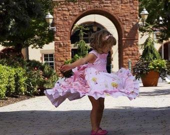 Girl princess ruffle dress birthday Easter wedding