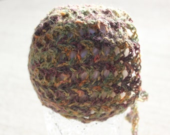 READY TO SHIP Newborn photo prop, Crochet Baby Bonnet - Alpaca Newborn Crochet Wool Baby Bonnet Photography Prop - Crochet Hat - Lace Bonnet