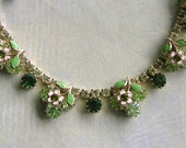 Vintage Weiss Necklace and Bracelet Set, Weiss Demi-Parure, Costume Jewelry (#2846)