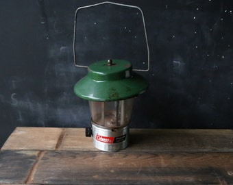Vintage Colemans Lantern Green Metal With Glass From Nowvintage on Etsy