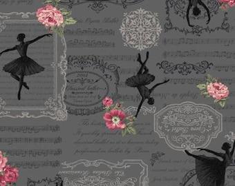 Prima RURU  bouquet by Quilt Gate small floral  print 1 yard RU2260-13F