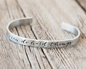 I Can Do Hard Things Mantra Cuff Bracelet, I Can Do Hard Things Bracelet, Affirmation Jewelry, OLW, Gifts for Kids, Gifts for Her, Be Brave