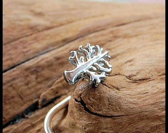 Tree of Life Nose Stud / 22G / 20G / 18G  Nose Ring /  Unique Nose Jewelry / Silver Nose Ring / Rock Your Nose- Customize
