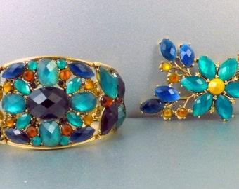 Liz Claiborne Bracelet Brooch Set