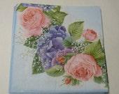 Decoupage Napkins,  vintage paper napkins, roses