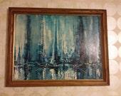 Danny Garcia blue ship painting