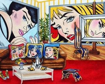 Prints, Art print, Fine Art Print, Home interior print,  Wall print, Wall art, Original Art Fun with Roy