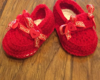 Valentines Heart booties Made to Order