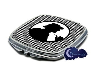 Sherlock Holmes Houndstooth - Compact Mirror