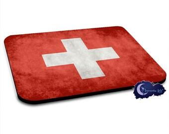 Swiss Flag, Switzerland Mousepad